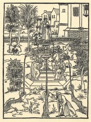 """Gravat de la página de títol de """"Les Dix Premiers Livres de l'Iliade d'Homère"""", de Hugues Salel (1545)"""