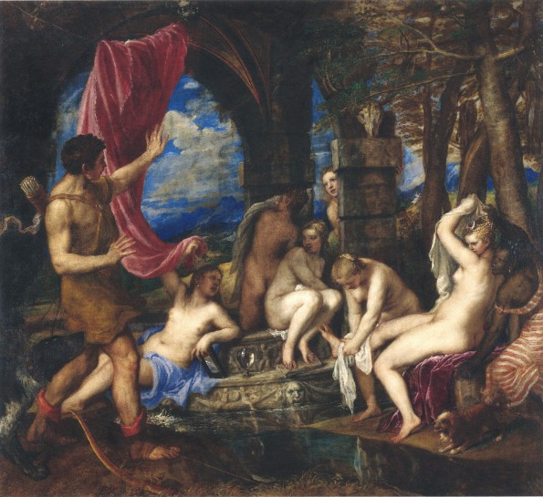 Tiziano - Diana and Actaeon (1556-9)