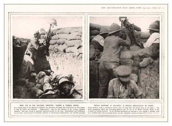 Trinxeres als Dardanels. Illustrated War News
