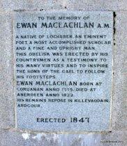 Placa a l'Ewen MacLachlan Obelisk