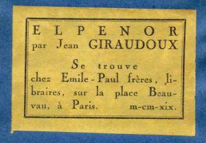 Jean Giraudoux - Elpénor 2