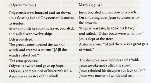 Homeric epics & Gospel of Mark  2